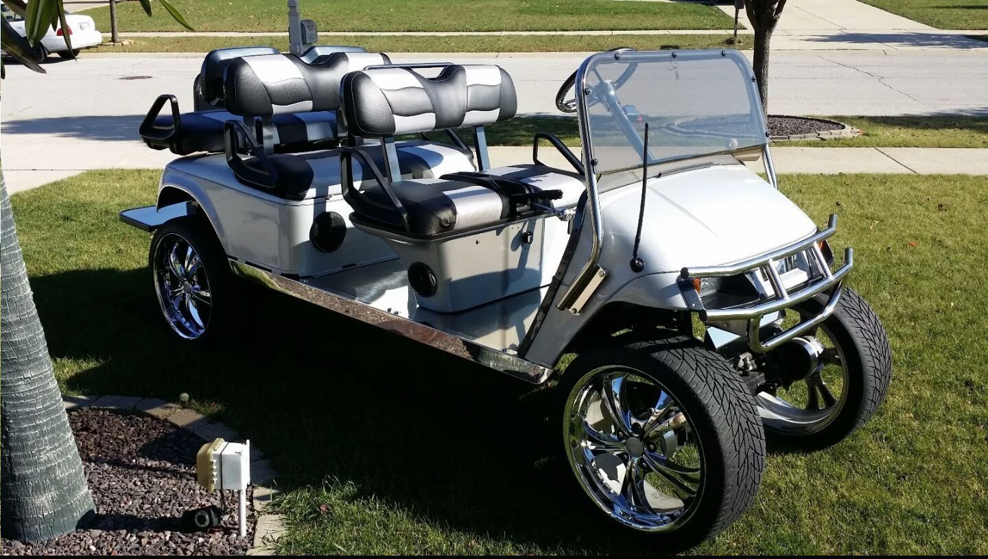 golf buggy pimped