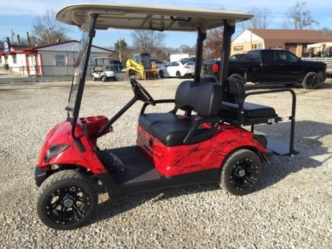 2009 Yamaha 48v golf cart red Marble dip body and dash Newer Batts for sale