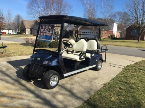 2010 EZGO Zone Electric Gold Cart for sale