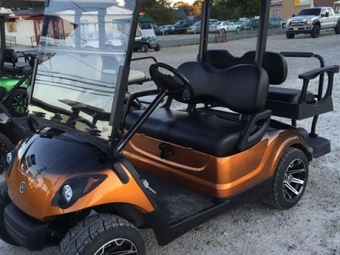 2010 Yamaha Drive gas golf cart Custom Paint Wheels Seats Lights etc! for sale