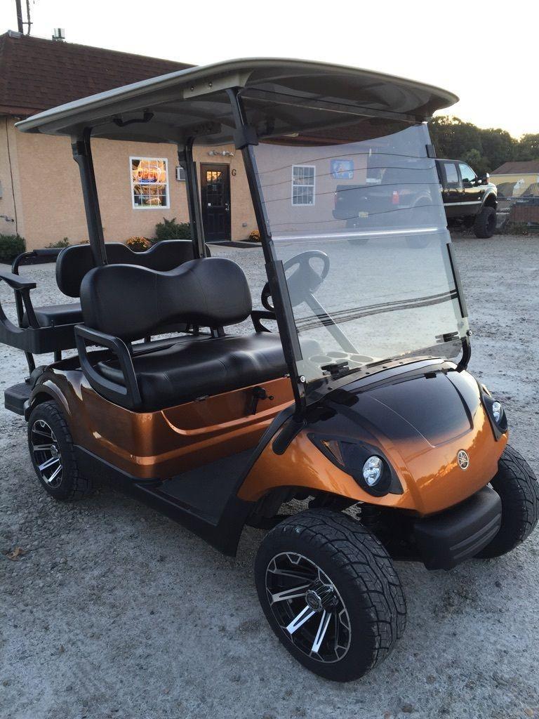 2010 Yamaha Drive gas golf cart Custom Paint Wheels Seats Lights etc!