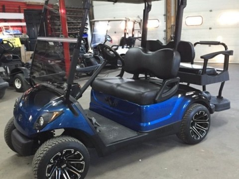 2010 Yamaha gas golf cart Custom new Paint,wheels,seats Leds, Tinted windsheild! for sale