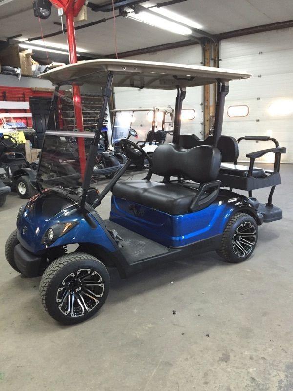 2010 Yamaha Gas Golf Cart Custom New Paint Wheels Seats