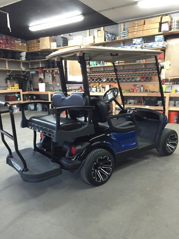 2010 Yamaha gas golf cart Custom new Paint,wheels,seats Leds, Tinted windsheild!
