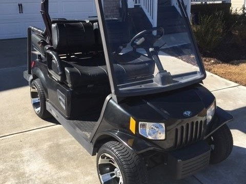 Black Tomberlin Street Legal 48 VOLT GOLF CART 2007 Emerge LSV NEV for sale