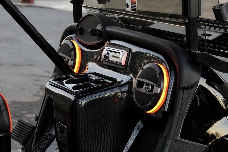 Ez Go Bulldog Carts Rxv 48 Volt Golf Cart Black Orange