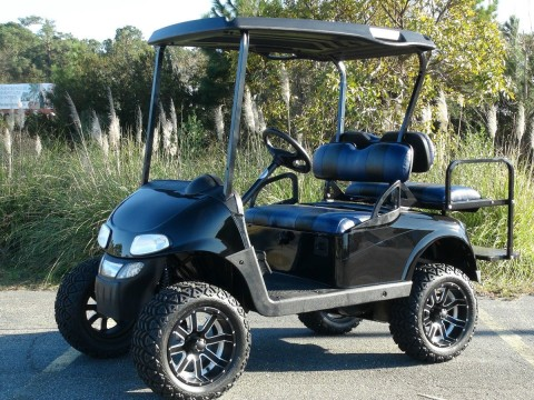 EZGO RXV GAS GOLF Cart/ Refurbished Custom / 4 Passenger / Lifted / Custom SEATS for sale