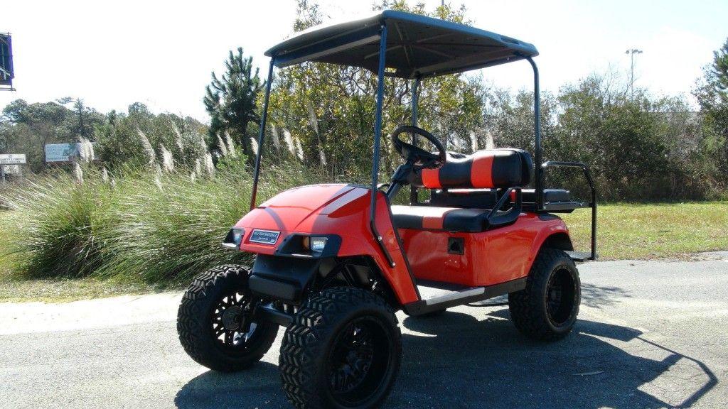 EZGO TXT GOLF Cart/ 48 VOLT Electric/ Refurbished Custom / 4 Passenger / LIFTED
