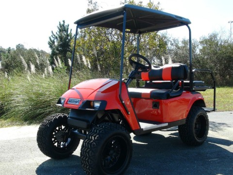 EZGO TXT GOLF Cart/ 48 VOLT Electric/ Refurbished Custom / 4 Passenger / LIFTED for sale