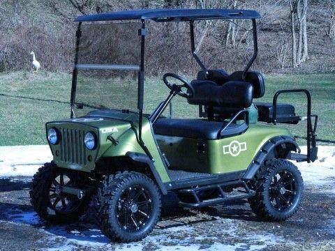 Refurbished 2003 txt custom Jeep front end  5″ lift kit golf cart for sale