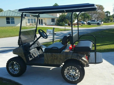 1996 Club Car 48 Volt Electric Golf Cart Camo for sale