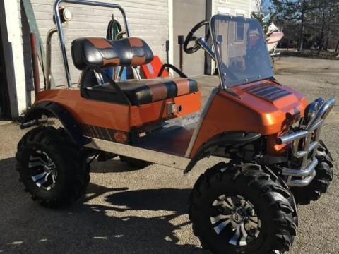Heavily Customized Club Car Monster Golf Cart for sale