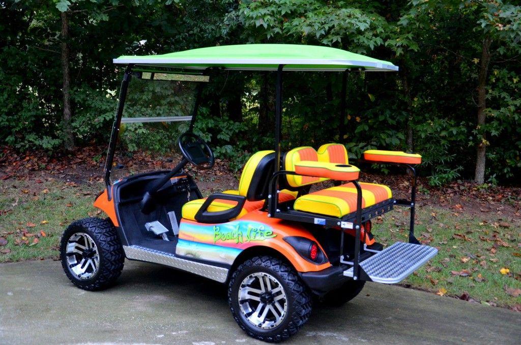 2009 Yamaha 48 Volt Cart, Custom Paint