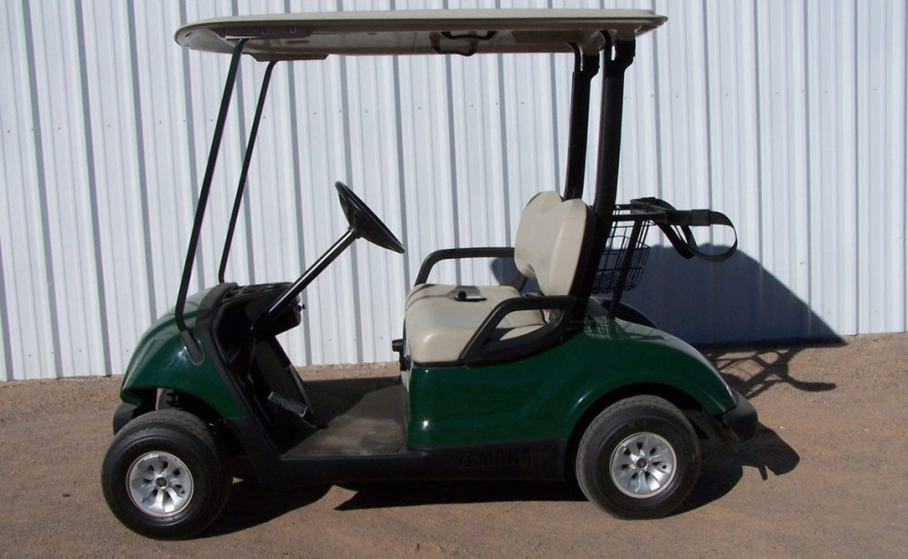 2010 Yamaha Drive Green Golf Cart 48 Volt