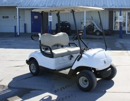 2010 Yamaha Drive White Golf Cart 48 Volt