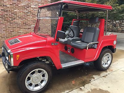 2011 Hummer H3 Golf Cart Red
