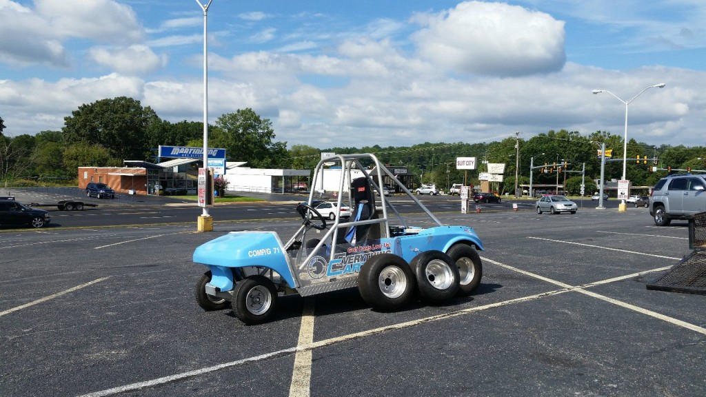 Drag Racing Club Car Golf Cart