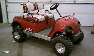 Yamaha G16 Lifted Golf Cart