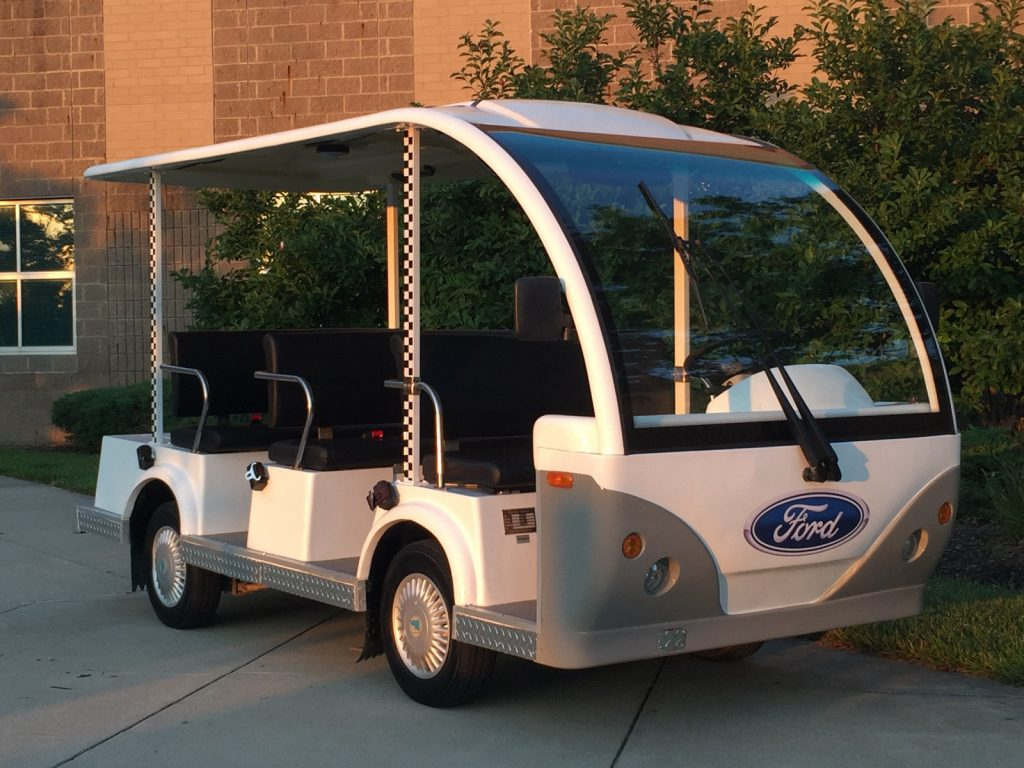 8 Passenger 2009 FORD Think 48 Volt Electric Shuttle Golf Cart