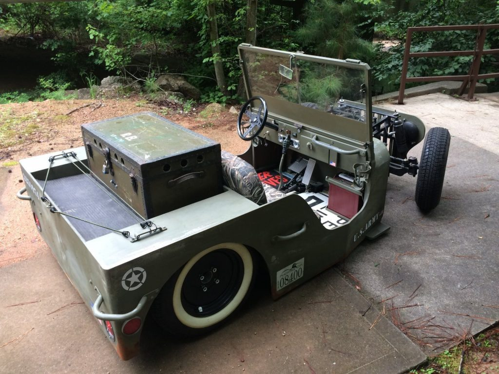 Golf Cart Dimensions >> Rodded Jeep Golf Cart for sale