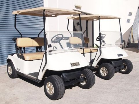 Scratched 2011 EZ GO TXT 48 VOLT golf cart for sale