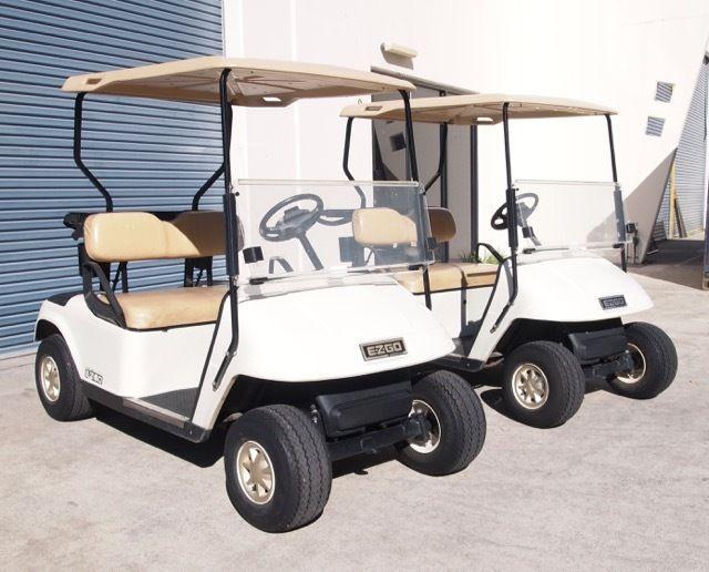 Scratched 2011 EZ GO TXT 48 VOLT golf cart