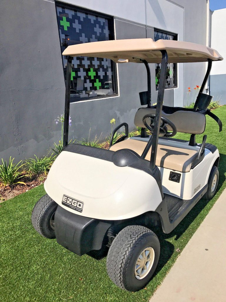drives good 2010 EZGO RXV 2 Passenger seat golf cart