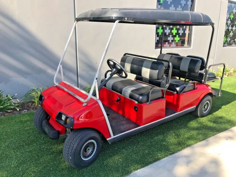 custom upholstery 2003 Club Car 6 Passenger Limo 48v golf cart for sale