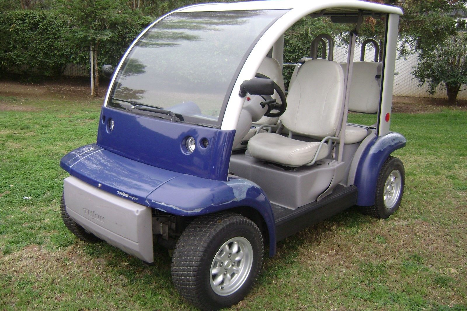 Older Paint 2002 Ford Think 4 Passenger Golf Cart For Sale