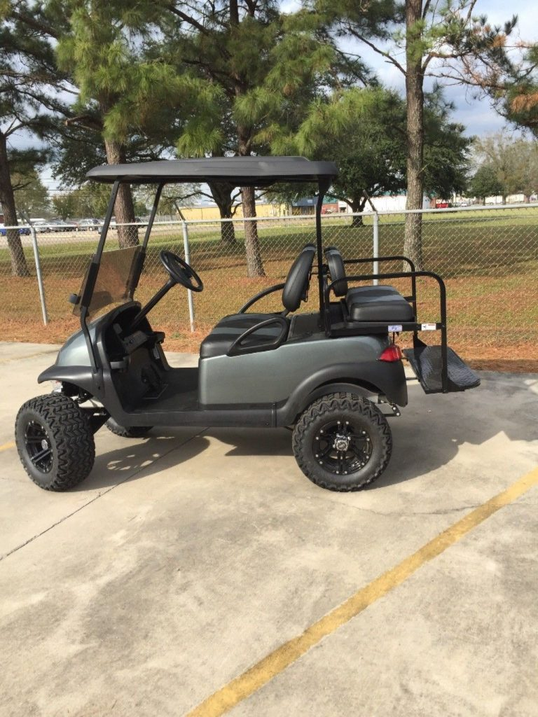 lifted 2014 Club Car Precedent golf cart