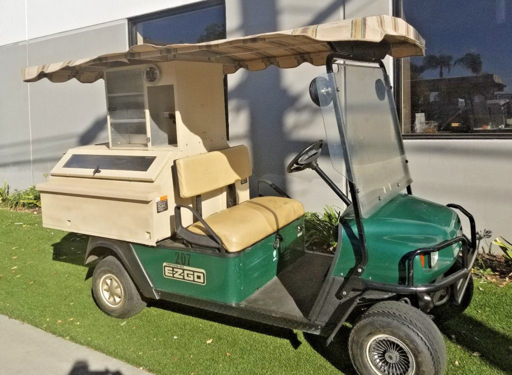 Drives good 2008 Ezgo Gas Beverage golf cart