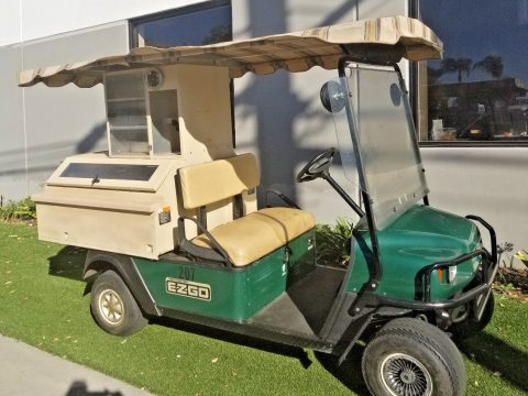 Drives good 2008 Ezgo Gas Beverage golf cart for sale
