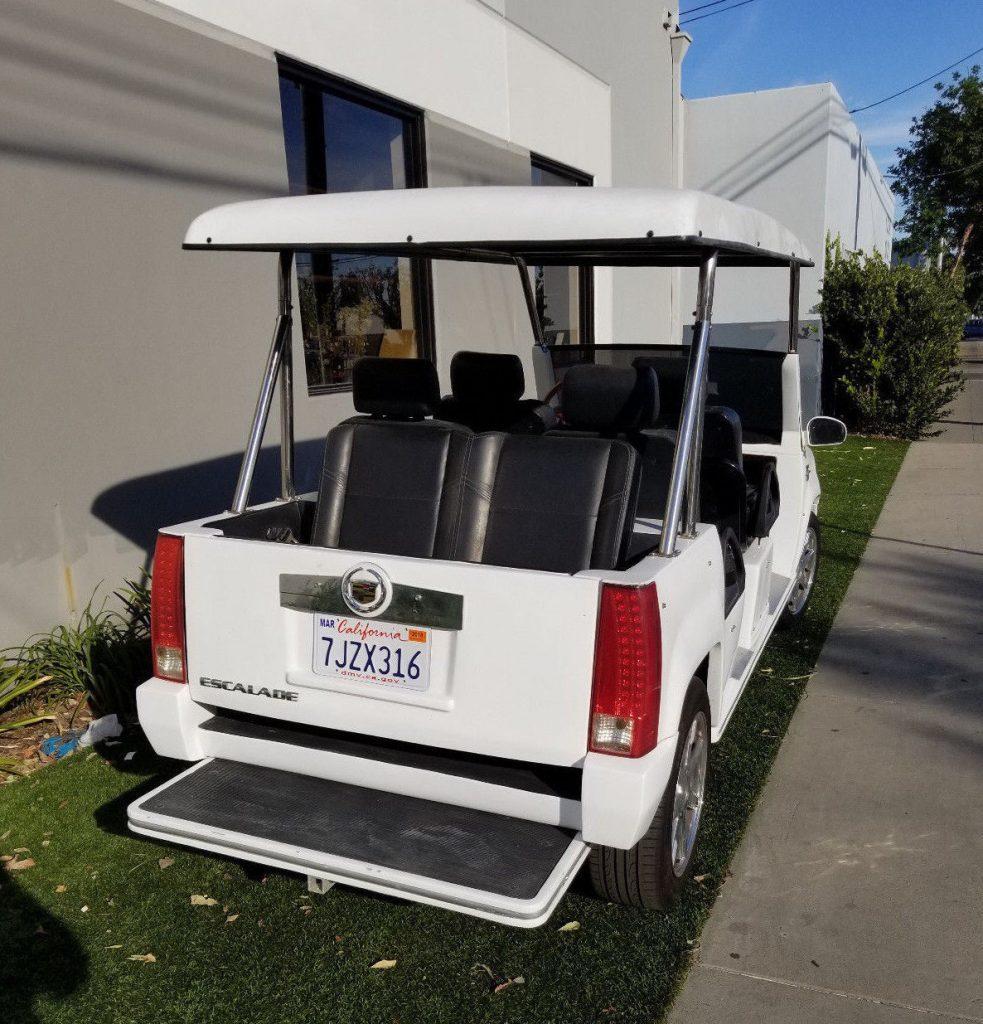 garaged 2012 Acg golf cart