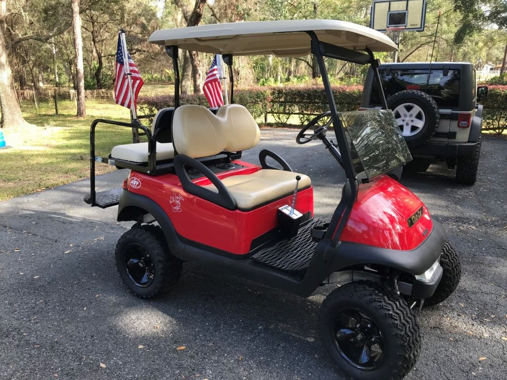 lifted 2011 Club Car golf cart