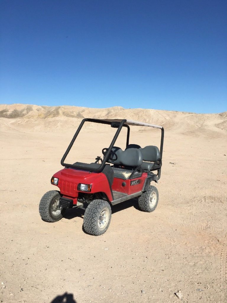 lifted 2012 Club Car golf cart
