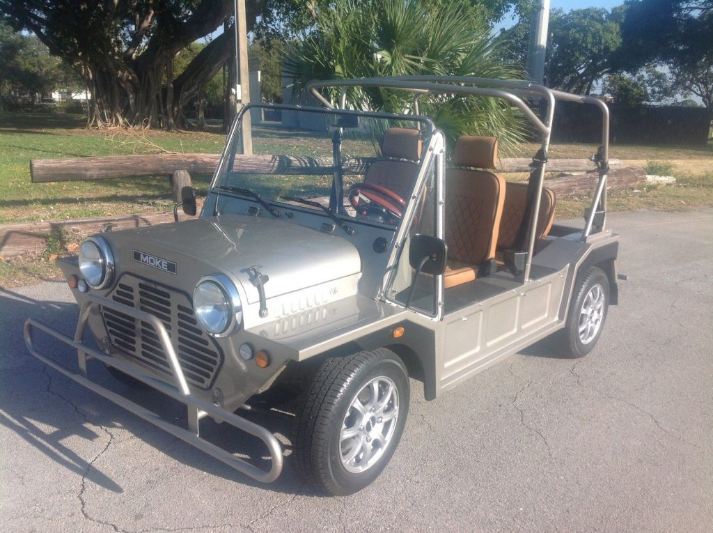 almost unused 2017 ACG Silver Mini Moke Golf Cart