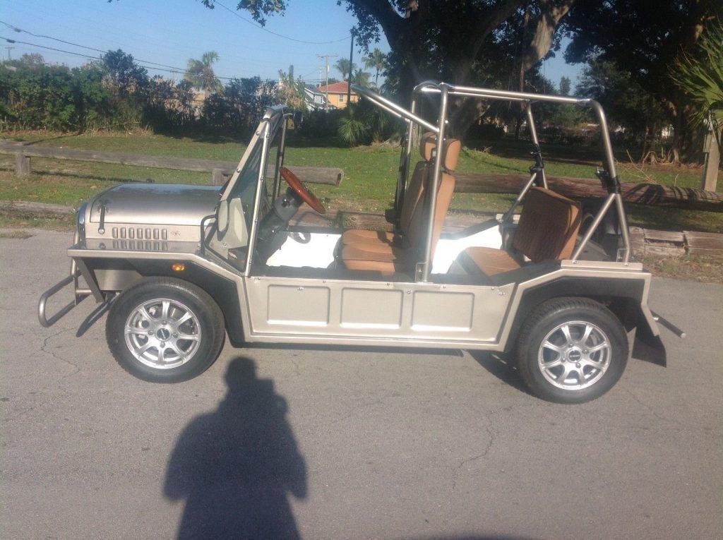 almost unused 2017 ACG Silver Mini Moke Golf Cart