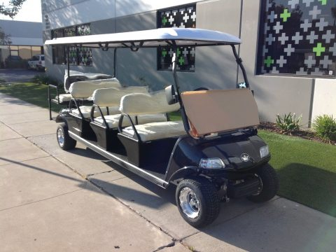brand new 2018 black Evolution Golf Cart limousine for sale