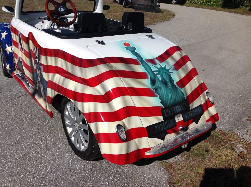 custom airbrush 2017 ACG 39 Roadster Golf Cart
