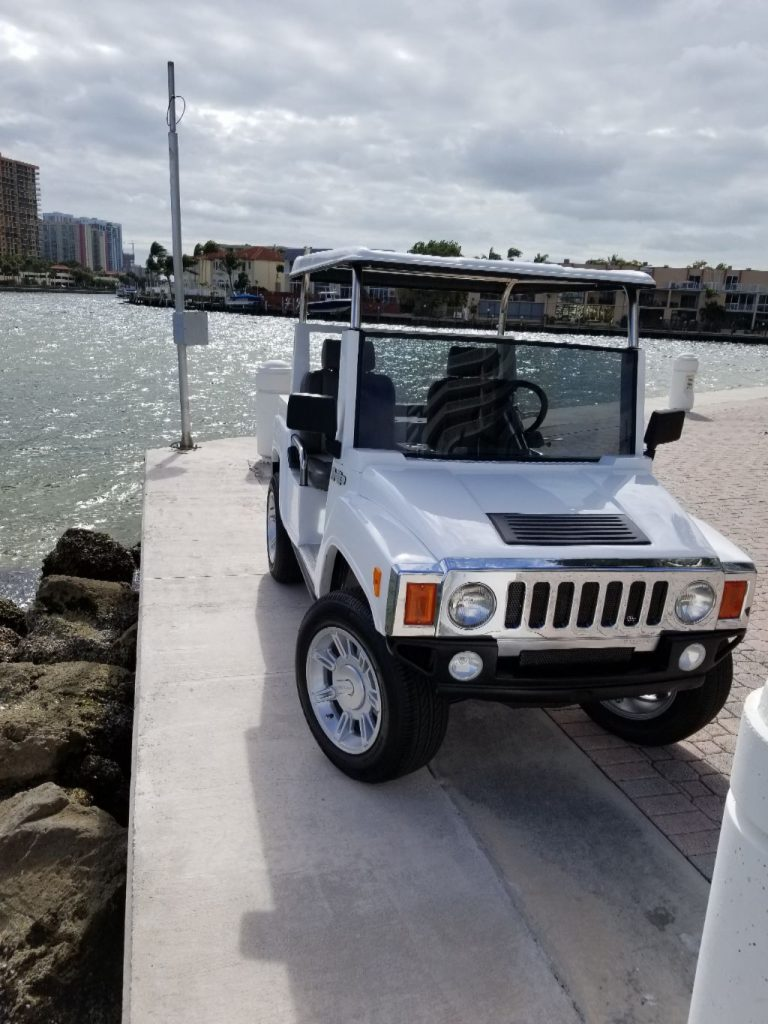 custom equipped 2017 ACG Hummer Electric Golf Cart