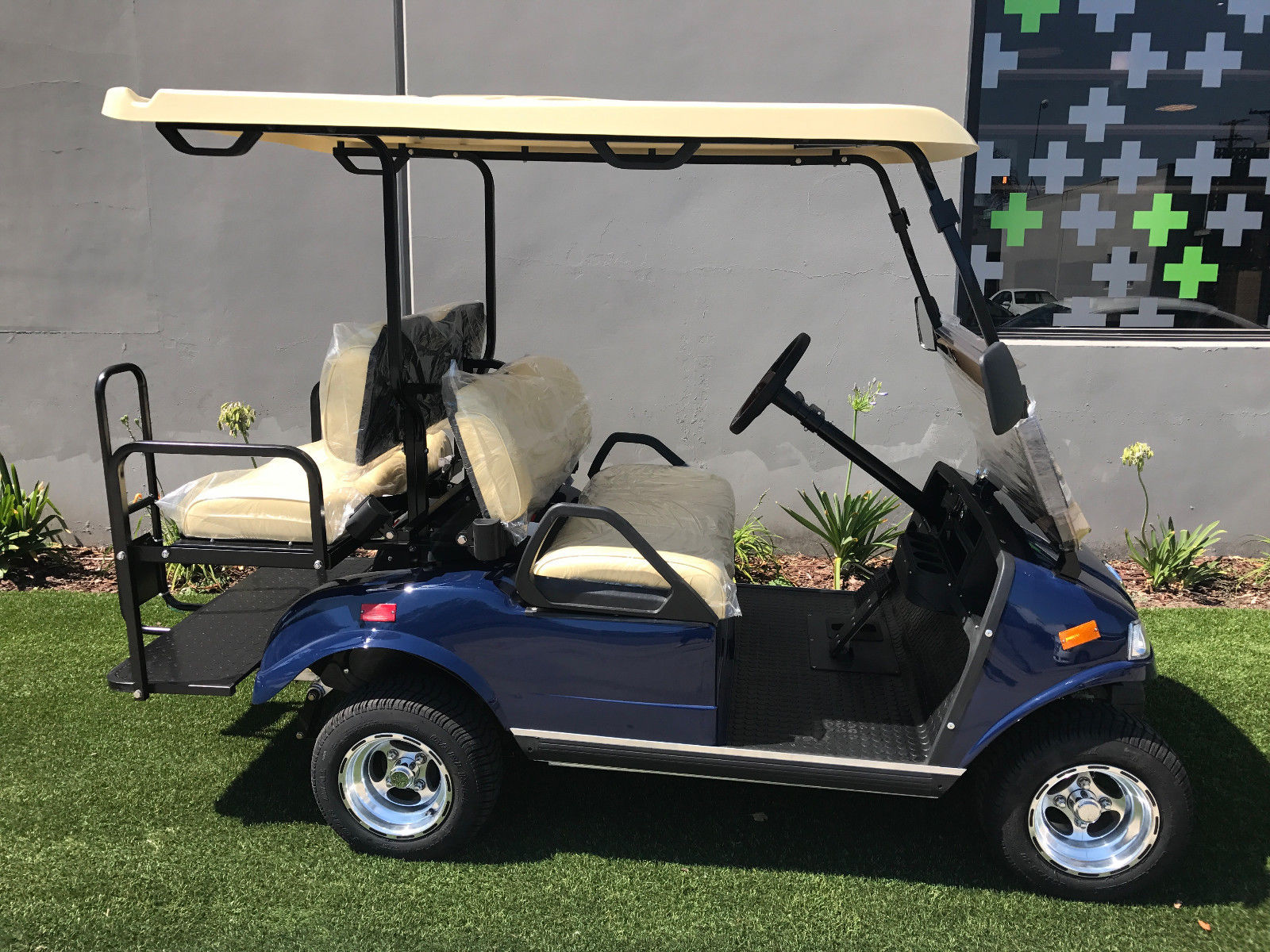 well equipped 2018 Blue LSV Evolution EV Golf Cart for sale