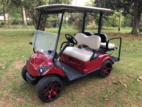 brand new wheels 2016 Yamaha G29 Gas Golf Cart for sale
