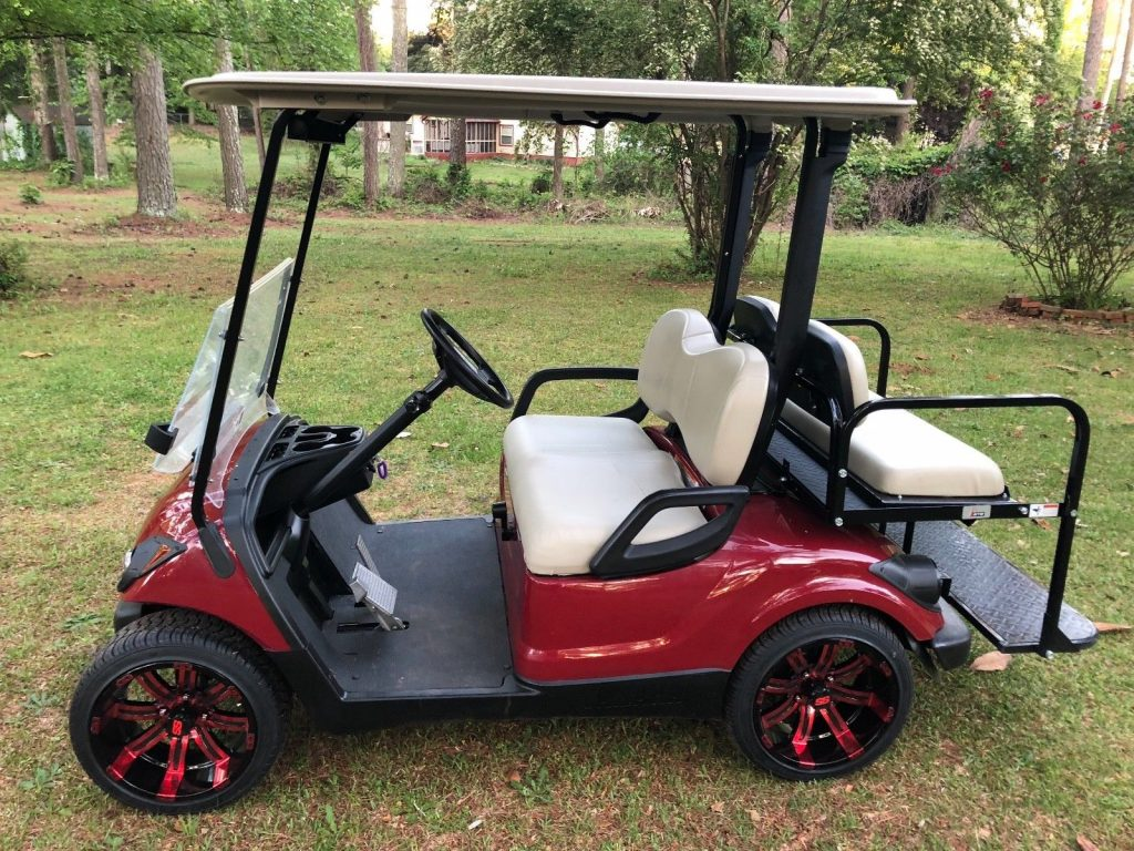 brand new wheels 2016 Yamaha G29 Gas Golf Cart