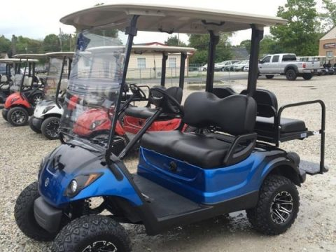 lifted 2013 Yamaha 48 volt Electric golf cart for sale