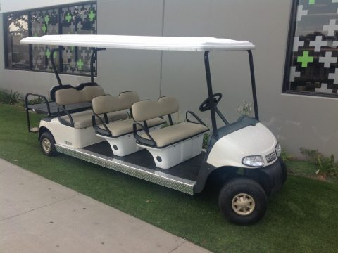 very good 2010 EZGO RXV 8 Passenger seat limo golf cart for sale