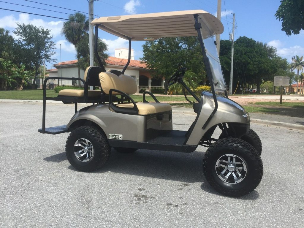 Lifted 2014 EZGO 48v golf cart