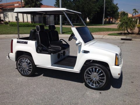 fast 2015 White ACG Cadillac Escalade golf cart for sale