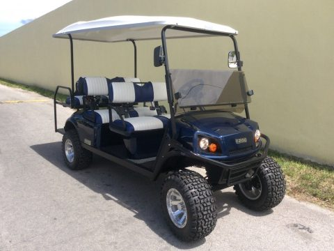 nicely equipped 2018 EZGO Express L6 GAS LIMO 6 Passenger GOLF CART for sale