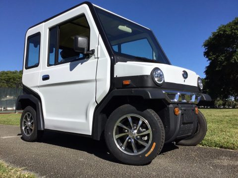 well equipped 2018 White Revolution 4 LSV Golf Cart for sale