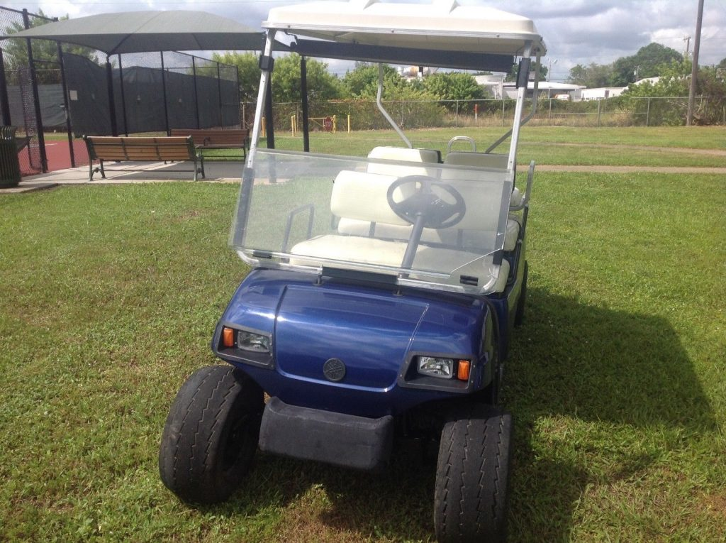 clean 2006 Yamaha limo golf cart